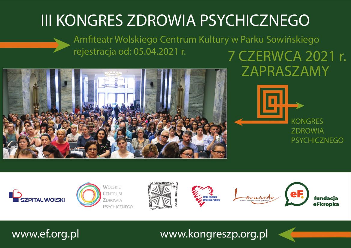 Zaproszenie na III Kongres Zdrowia Psychicznego 07 czerwca 2021